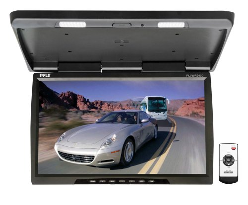 Pyle PLVWR2400 25-Inch Widescreen TFT-LCD Roof Mount Video Monitor with IR Transmitter