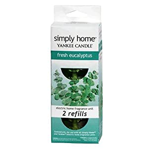 Yankee Candle simply home Fresh Eucalyptus Electric Home Fragrancer Refill Set