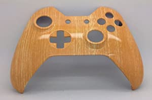 Xbox One Original Hydro Dipped Woodgrain Controller Shell Mod - Front Shell from Microsoft Software