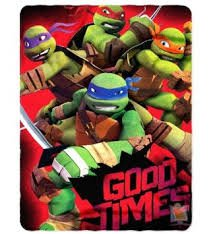 The Northwest Nickelodeon Teenage Mutant Ninja Turtles Good Times Printed Fleece Throw 46