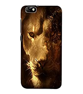 ColourCraft Lion Look Design Back Case Cover for HUAWEI HONOR 4X