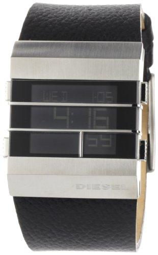 Diesel Men's DZ7069 Black and Silver Digital Black Dial Watch