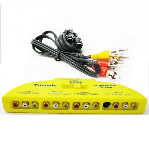 Best Review Of 4 Way Audio Video Game AV RCA Switch Selector Box Splitter Port Svideo DVD Cable
