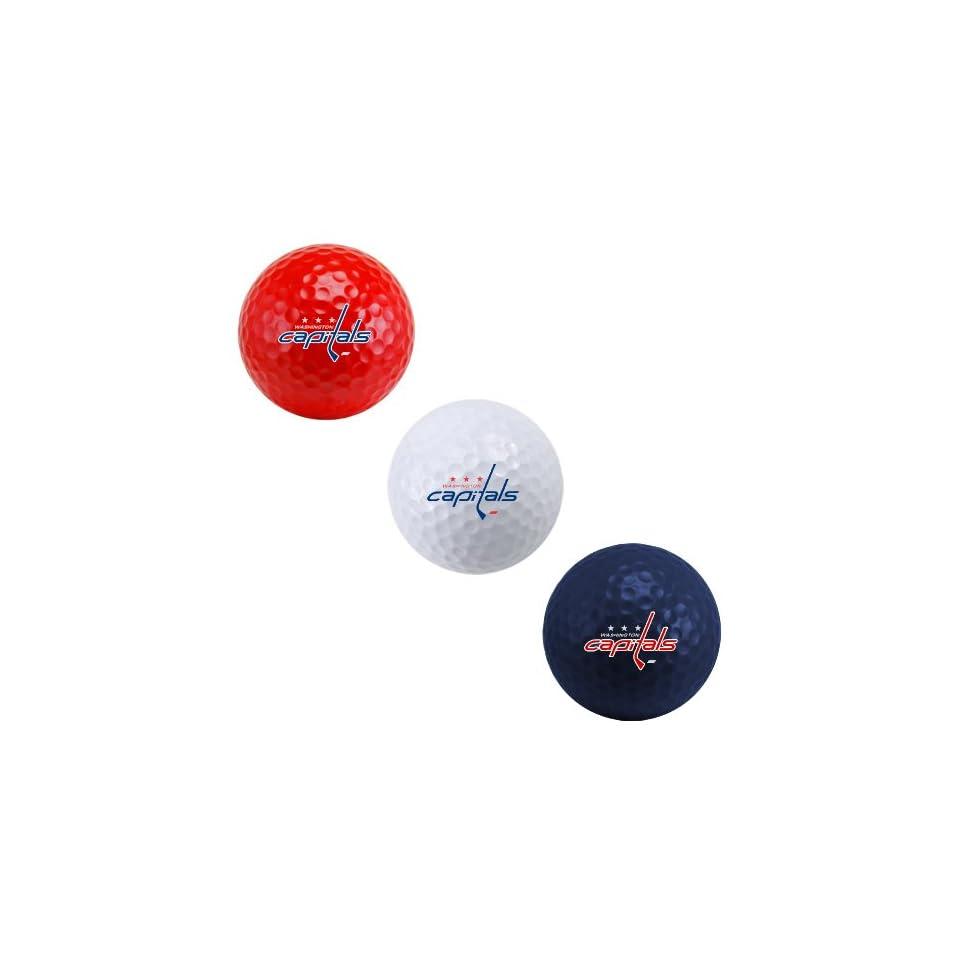 NHL Washington Capitals 3 Ball Tri Color Golf Ball Set