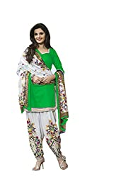 Style Amaze Cotton Green Dress Material