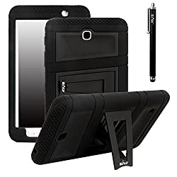 Galaxy Tab 4 8.0 Case, E LV Samsung Galaxy Tab 4 8.0 Case - High Impact Resistant Full-body Protection Hybrid Armor Defender Case Convertible Built in Stand for Samsung Galaxy Tab 4 8 - BLACK