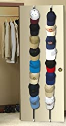 16 BASEBALL CAP ADJUSTABLE WALL / DOOR STORAGE RACK