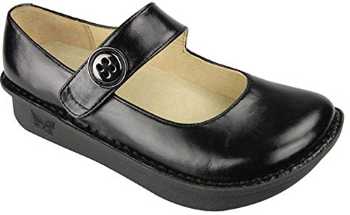 Alegria Women's Black Waxy Alegria Paloma Professional Solid 39 M EU / 9-9.5 B(M) US (Alegria Shoes Paloma compare prices)