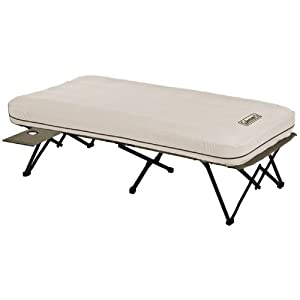 Amazon Com Coleman Twin Airbed Cot With Side Table And