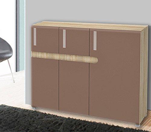 Sideboard-Kommode-6530-sonoma-eiche-cappuccino-Hochglanz