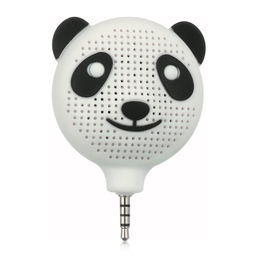 """Importer520 Rechargable Mini 3.5Mm Audio Speaker With Microphone For Amazon Kindle Fire Hdx 8.9"""" - Panda White"""