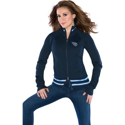 Touch by Alyssa Milano Tennessee Titans Women's Sweater Mix Jacket Small at Amazon.com