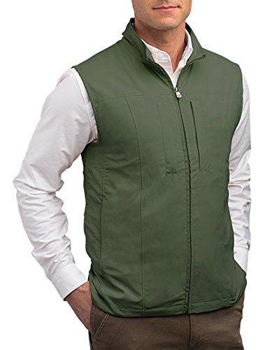 SCOTTeVEST Men's RFID Travel Vest, Olive, XX-Large (Scottevest Quest compare prices)