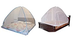 Mosquito Net For Double Bed Combo Pack of 2 200 X 200 X145 Cms