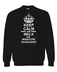 Keep Calm & Walk The Miniature Schnauzer Unisex Sweatshirt Jumper