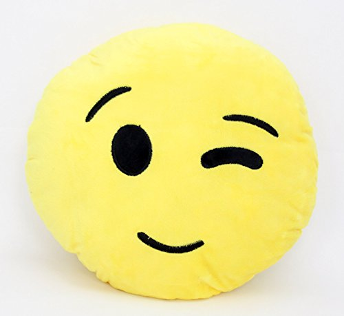 Perfect Life Ideas Emoji Pillow, Plush Cushion with Various Emoticon Expressions Faces Moods. Random Assorted Styles and Designs. Styles and Designs Will Vary.