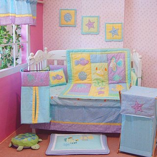 Under The Sea 6 Piece Baby Crib Bedding Set For Nursery front-386007