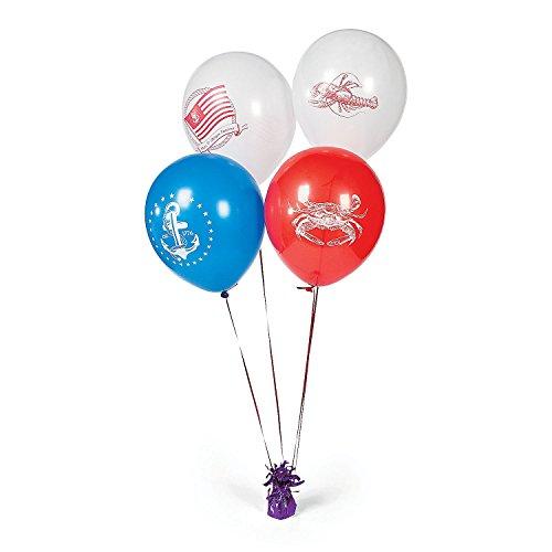 Nautical Latex Balloons - 25 pcs