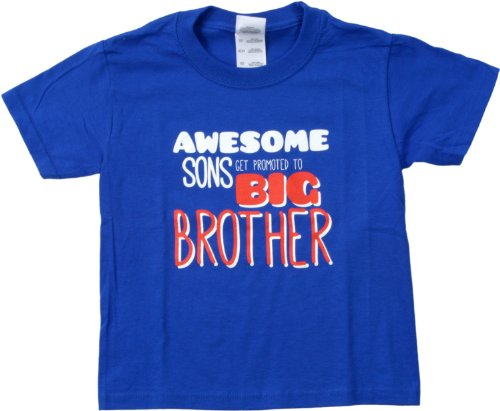 Ann Arbor T-Shirt Co. Big Boys' Awesome Sons Get Promoted To Big Brother Tee-X-Small (2-4) front-1076159