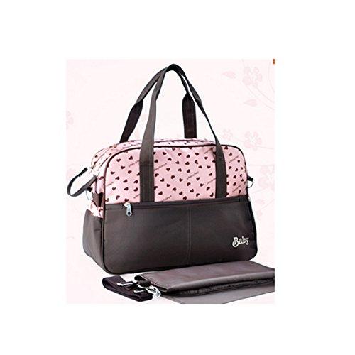Retro Mommy Bag Waterproof Baby Diaper Bag-Pink