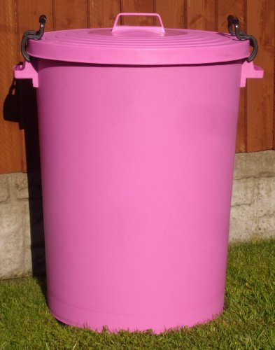 110 Litre Pink Bin/Refuse Bin With Lockable Lid (made in the uk)