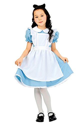 CREDIBLE ~不思議の国のアリス~ アリス 子供用 コスチューム 3点セット (ワンピース・エプロン・リボン) 120cm