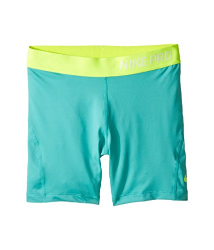 Nike Girls Dri-Fit Pro Cool Training Boy Shorts, Teal Green, Small, 589617 010