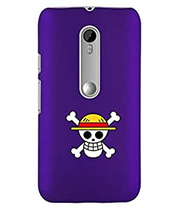KolorEdge Back Cover For Motorola Moto G 3rd Gen - Purple (1210-Ke15093MotoG3Purple3D)