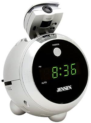 Jensen JCR222 AM/FM Projection Clock Radio
