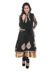 Diva Fusion Party/Festival wear Cotton semi-stitched Anarkali Dress material