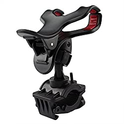 LapFones Bike, Bicycle, & Motorcycle Mobile Cell Phone Holder Mount Bracket For Iphones, Ipods, Samsung Galaxy Phones, LG, Nokia, Htc, Blackberry & Other Smartphones - Multi Color