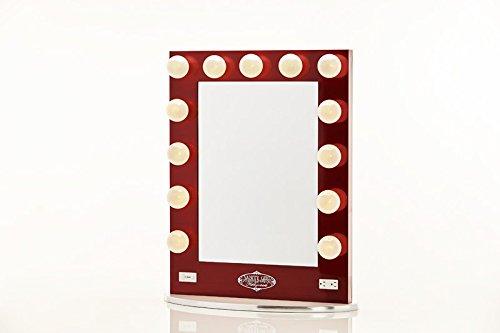 Broadway Lighted Vanity Mirror - Gloss White Furniture Cabinets Storage Vanities