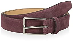 Thirty Five Kent Men\'s Suede Belt, Wine, 34 US