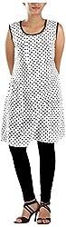 MGM Women's Khadi Regular Fit Kurta (MGMK0013_36, White, 36)