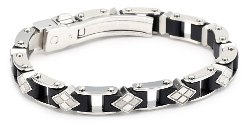 Simmons Jewelry Co. Men's Stainless Steel Bracelet, 8