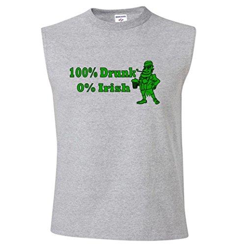 100% Drunk 0% Irish Funny Beer St. Patrick's Day Sleeveless T-Shirt
