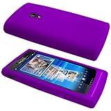 Cbus Wireless Purple Silicone Case / Skin / Cover for Sony Ericsson Xperia X10