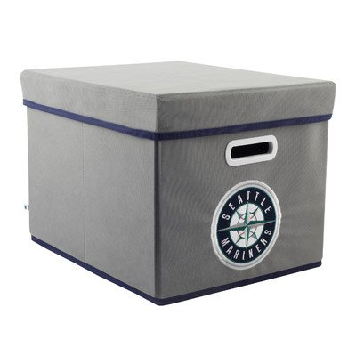 MLB Seattle Mariners Fabric Storage Cube, One Size, Gray