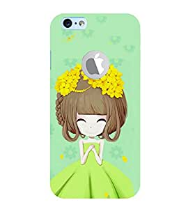 99Sublimation Girl with Flower in Hair 3D Hard Polycarbonate Back Case Cover for Apple iPhone 6S