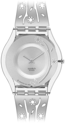Swatch Ladies Luludia Silver Dial Stainless Steel Bracelet Watch