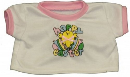 "Happy Easter T-shirt Teddy Bear Clothes Fit 14"" - 18"" Build-a-bear, Vermont Teddy Bears, and Make Your Own Stuffed Animals"