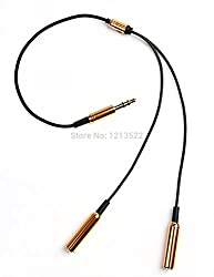 iConnect World - Y-Cable 3.5mm Jack Splitter (Golden)