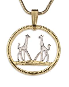 Amazon.com: Girraffe Pendant & Necklace By the Difference ...