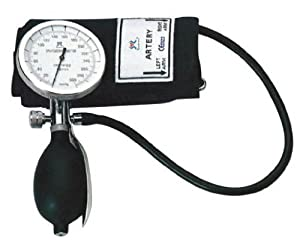 One Hand Manual Blood Pressure Cuff Large Adult size with D-Ring , Aneroid Sphygmomanometer , FDA approved