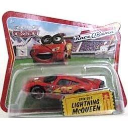 Disney World Of Cars Race O Rama Short Card Spin Out Lighting McQueen   #36