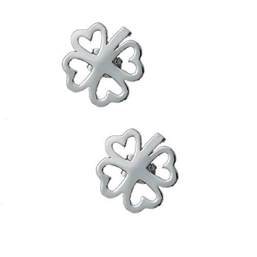 Neue Damen Mode Geschenk Mode Schmuck Frauen Lucky 4 Leaf CLiebenr Pierced Studs Ohrringe