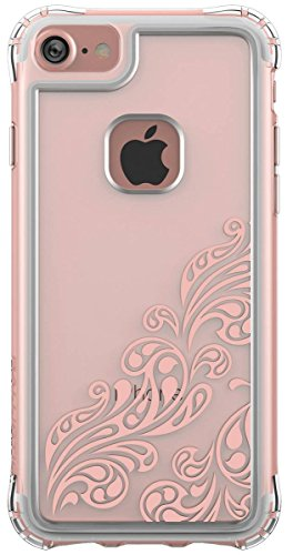 Ballistic iPhone 7 Case [Jewel Essence] Clear with Rose Gold Whispers Six-sided - 6ft Drop Test Certified Polycarbonate Back with TPU Trim Phone Case for Apple iPhone 7 - Clear and Rose Gold