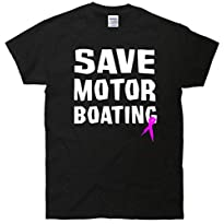 Save Motor Boating Breast Cancer T-Shirt