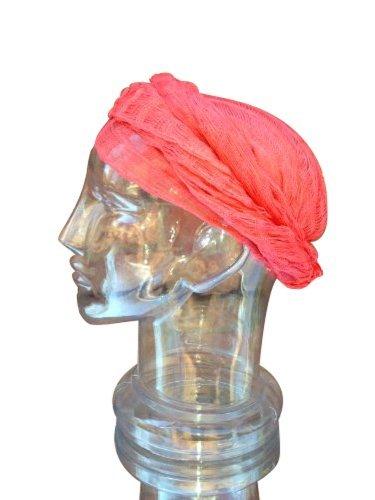 Sheer Solid Peach Head Wrap Cotton Gauze Hair Scarf Bandana Turban Chemo Cap front-485744
