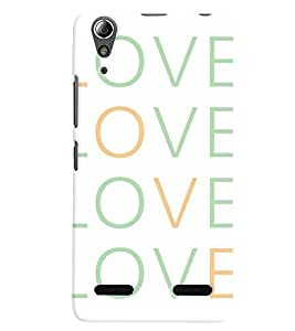 Lenovo A6000 MULTICOLOR PRINTED BACK COVER FROM GADGET LOOKS